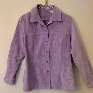 Genuine Suede Lavender Blazer (M)